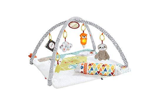 Fisher-Price - Gimnasio Sensorial Llama, Manta de Juego para Bebés Recién Nacidos Mattel GKD45