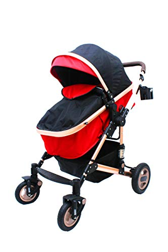 Polka Tots Soft, Comfortable Shockproof Stroller & Pram for Babies