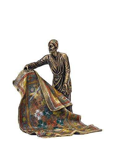 aubaho Bronze Teppichhändler Orient Teppich Bronzefigur Bronzeskulptur Figur Antik-Stil