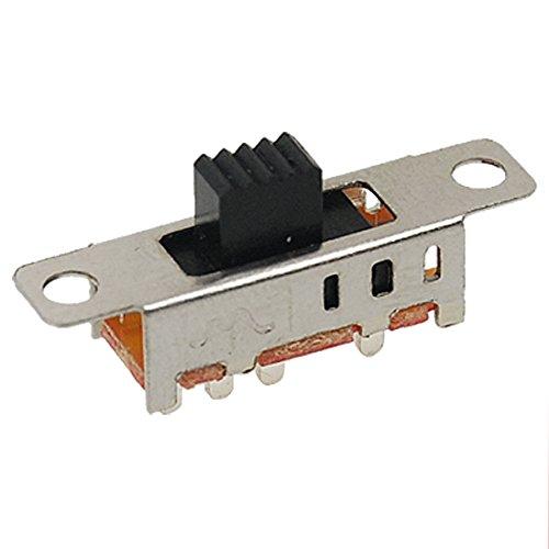 sourcingmap® 10 pz x DC 50V 0.5A 3 posizione 2P3T DP3T pannello scivolo interruttore 8 perno PCB SS23E04