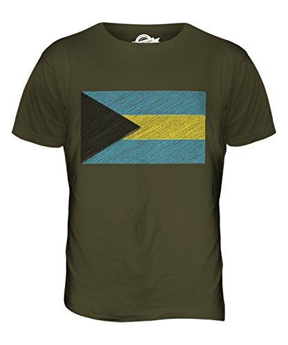 CandyMix Bahamas Kritzelte Flagge Herren T Shirt Khaki Grün