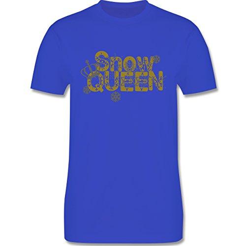 Après Ski - Snowqueen - Herren Premium T-Shirt Royalblau