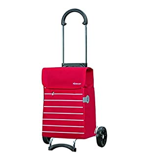 Andersen Shopping trolley Scala with bag Lini red, Volume 34L, steel frame