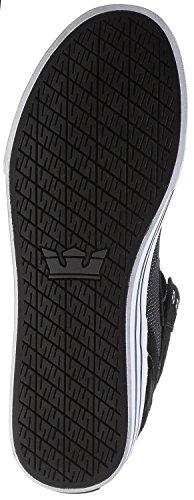 Supra Vaider, Sneakers Hautes mixte adulte Black White