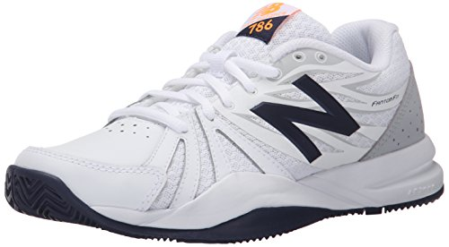 New Balance Wc786wn2, Chaussures de Tennis femme Blanc - White (White/Blue)