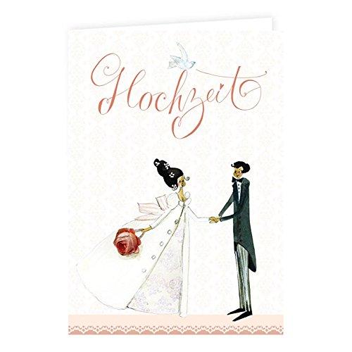 6 Hochzeitskarten im Set von Silke Leffler