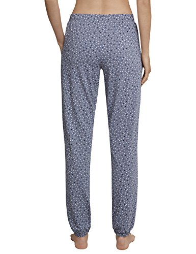 Schiesser Damen Schlafanzughose Mix & Relax Jerseyhose Lang Grau (Graublau 209)