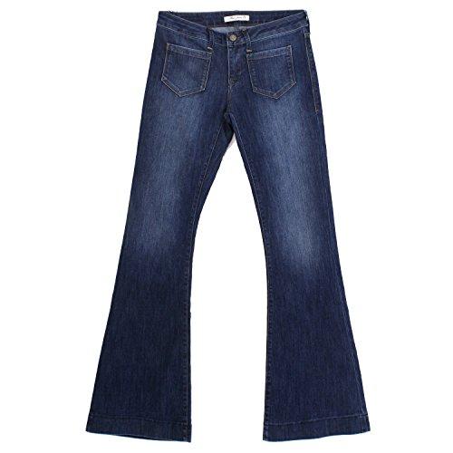 Dark Denim Flare Jeans (Mavi, Pia, Damen Jeans Hose, Stretchdenim, Dark Brushed Blue, W 29 L 34 [18700])