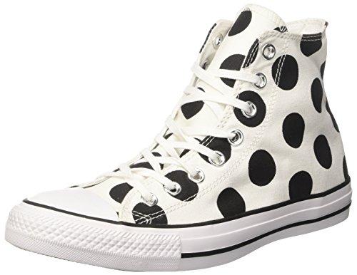 Converse Damen Ctas Hi Sneakers, Weiß (White/Black/White), 36 EU
