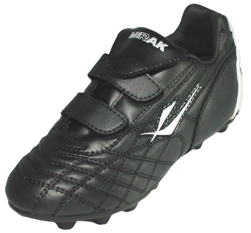 Mirak New Boys Childrens Black Silver Touch Fasten Sports Boots - Black Silver - UK Size 12