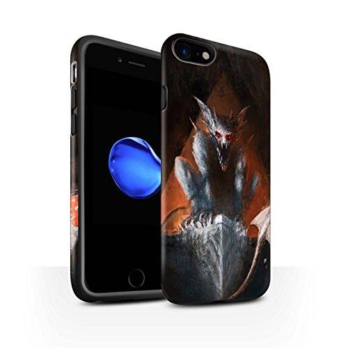 Offiziell Chris Cold Hülle / Matte Harten Stoßfest Case für Apple iPhone 7 / Raubtier/Jäger Muster / Wilden Kreaturen Kollektion Vampirfledermaus