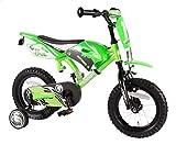 Bici Bicicletta Bambino 3 4 5 Anni Motobike Motocross 12 Pollici con Ruotine Verde