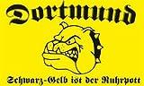 U24 Flagge Fahne Dortmund schwarz gelb 90 x 150 cm