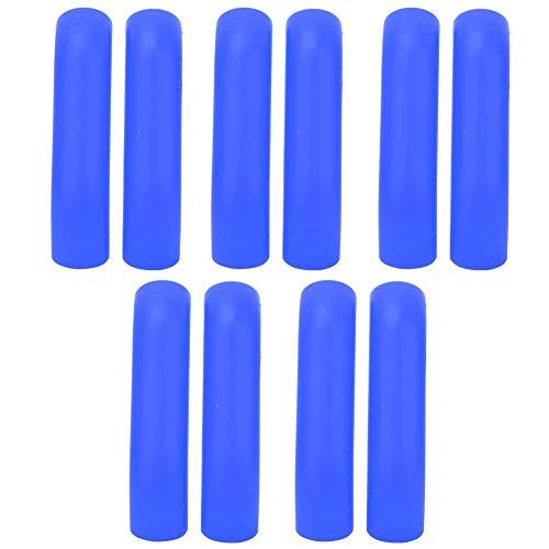 Keenso 5 Paar Bremshebelschutz, Bremshebelschutz Rutschfestes Mountain Road Fahrradzubehör(Blau)