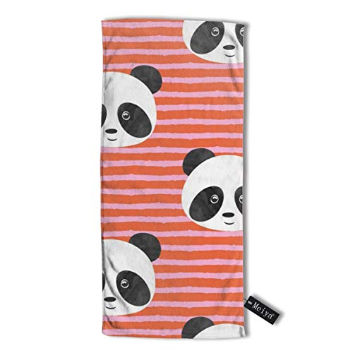 Pillowcase Wholesale Pandas On Stripes Multi-Purpose Microfiber Towel Ultra Compact Super Absorbent and Fast Drying Sports Towel Travel Towel Beach Towel. - Athletic Striped Wrap