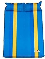 Almohadilla a prueba de humedad Almohadilla inflable automática al aire libre al aire libre del dobladillo 185 * 130 * 3cm ( Color : Azul )
