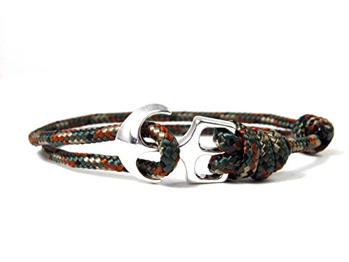 hansecharms-maritimes-surfer-anker-armband-paracord-typ-ii-armband-verstellbar-unisex-woodland-camo