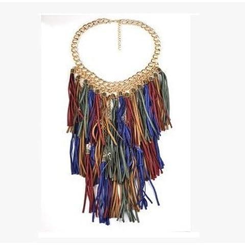 Mebare(TM) a pi¨´ strati d'epoca Collane Grande nappa Normativa collana delle donne Collane monili etnici per i regali personalizzati