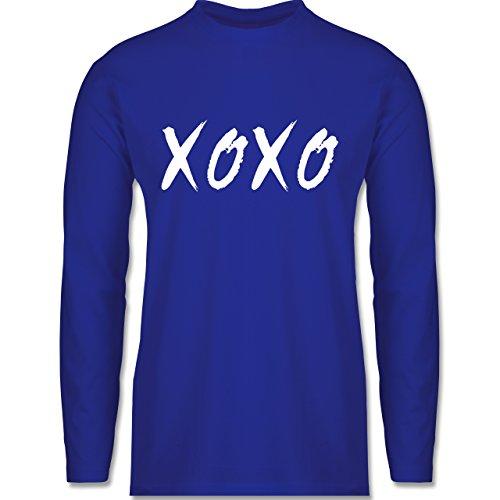 Shirtracer Statement Shirts - XOXO - Hugs and Kisses - Herren Langarmshirt Royalblau