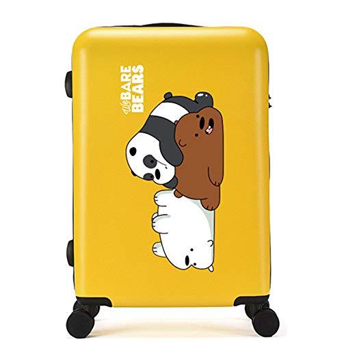 Valigia Per Bambini DXWF Cartone Animato Bambini 20'24'26'pollici Abs-pc Travel Trolley Borse Case Bambini Rotolamento Bagaglio Borsa Da Viaggio Su Ruote 43'26'70cm Yello