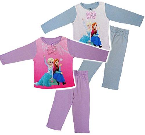 alles-meine.de GmbH 2 TLG. Set _ Hausanzug / Schlafanzug -  Disney Frozen - die Eiskönigin  - Größe: 3 Jahre - Gr. 104 - 100 % Baumwolle - Langer Pyjama / Sportanzug langärmeli.. (Frozen Für Frauen Pyjama)