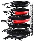 EverEx™ Adjustable pan and Pot Rack Holder Dish Storage Organiser for Kitchen, Black