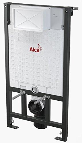 WC Vorwandelement für Trockenbau 100 cm inklusive Betätigungsplatte Weiss/ Schwarz Unterputzspülkasten Spülkasten Wand WC hängend Schallschutz