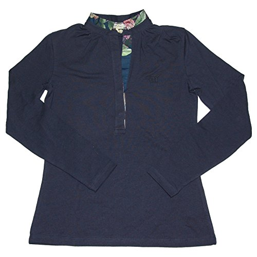A0574 polo donna HENRY COTTON'S STRETCH manica lunga blu t-shirt woman [42]