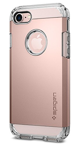 Coque iPhone 7, Spigen® [Tough Armor] HEAVY DUTY [Or Rose] Slim Dual Layer Protective Housse Etui Coque Pour iPhone 7 (2016) - (042CS20492)