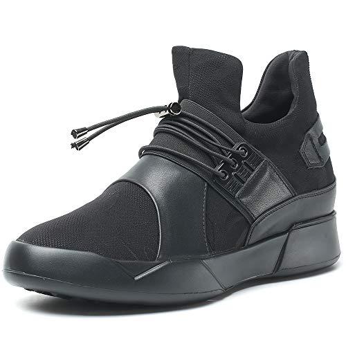 Chamaripa uomo moda scarpe con rialzo ginnastica altezza invisibile uomo 6cm traspirante scarpe in pelle