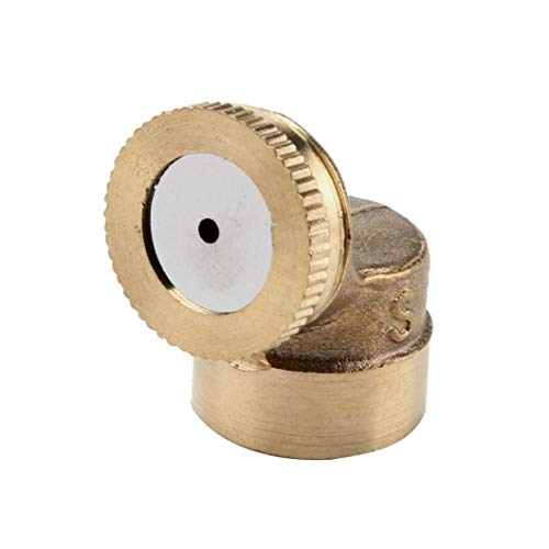 Bobopai 1/2/3/4 Brass Hose Pipe Fitting Garden Tap Spray Nozzle Mist for Cooling (A) -