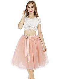 Petticoat 50er Jahre von COLLEER, Retro-Faltenrock perfekt zu Strick und Heels oder Sneakers, Unterrock für Hochzeit und Party