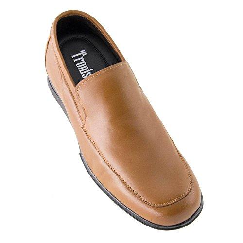 Masaltos scarpe con rialzo da uomo che aumentano l'altezza fino a 7 cm. fabbricate in pelle. modello flex nature a marrone 39