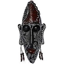 ZDQ Decoración de Ornamentos de la máscara, Estilo étnico Africano Retro Creativo Talla de Madera