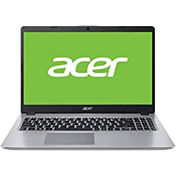 "Acer Aspire 5 | A515-52-78YZ - Ordenador portátil 15.6"" HD LED (Intel Core i7-8565U, 8 GB de RAM, 1 TB HDD, Intel UHD 620, Windows 10 Home) Plata - Teclado QWERTY Español"