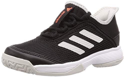 adidas Unisex-Kinder Adizero Club K Tennisschuhe, Schwarz (Negbás/Ftwbla/Griuno 000), 35 EU