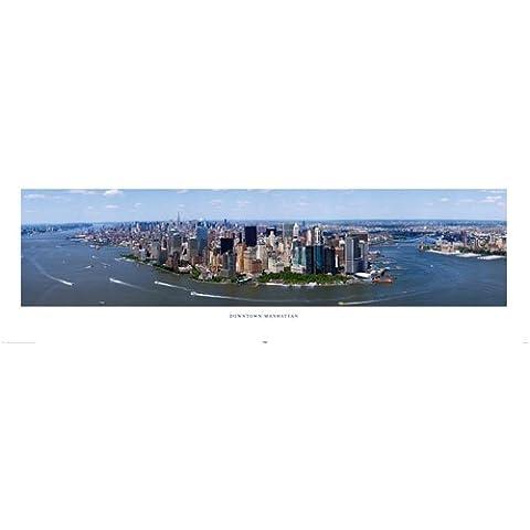 Gigantes de Nueva York Manhattan blanco BorderDoor cartel Medidas 62 x cm 53,34 (158 x 53 cm)