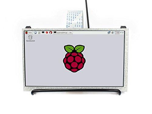 Waveshare 7inch IPS LCD 1024X600 High Resolution Display Screen for Raspberry Pi 2B 3B 3B+ 3A+ Zero Zero W WH Supports Raspbian Ubuntu OSMC DPI Interface