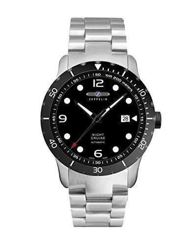 Zeppelin Herren Analog Automatik Uhr mit Edelstahl Armband 7264M2