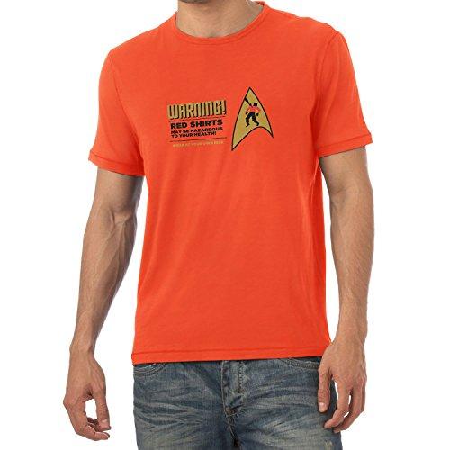 TEXLAB - Warning! Red Shirts! - Herren T-Shirt Orange