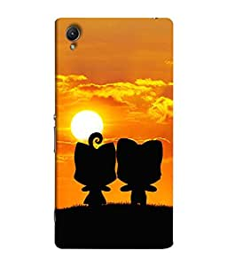 PrintVisa Designer Back Case Cover for Sony Xperia Z4 Compact :: Sony Xperia Z4 Mini (Two Person Shadow Stand Morning Yoga Sun )