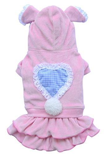 Doggy Dolly DRF005 Hundekleid Bunny, rosa, Größe : (Beagle Ohren Kostüm)