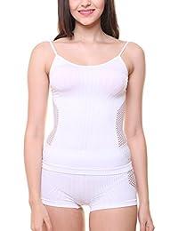 Glus New Dream Modal Camisole + Boy Shorts Set,Color-White