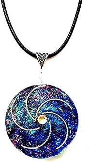 Orgone ; Orgonite ; collana ; Ciondolo vortice Spirale della Vita. Reiki, Chakra,New Age