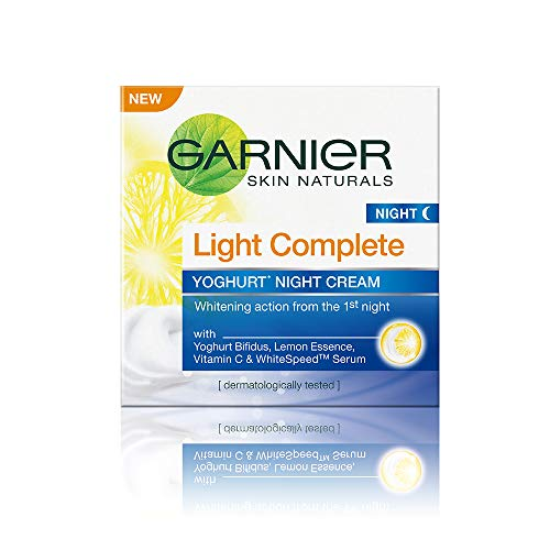 Garnier - Skin Naturals Light Complete White Speed, crema da notte allo yogurt, 40 g