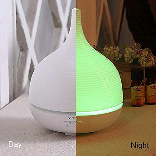 Diffusore di Aromi Aiho 500ml 4-in-1 Umidificatore Ultrasonico di oli essenziali Foschia Fredda LED 7 Colori Autospegnimento Timer Purifucatore d'aria Perfetto per un regalo di Natale