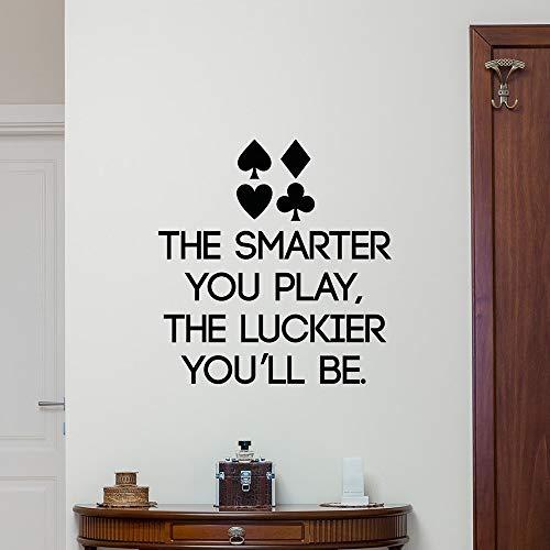 Poker Zitat Wandtattoo Schriftzug Spielen Casino Vinyl Aufkleber Spiel Kunst Dekor Wandkunst Wandbild Für Casino Dekoration Wohnkultur 57X59CM (Casino Dekoration Ideen)