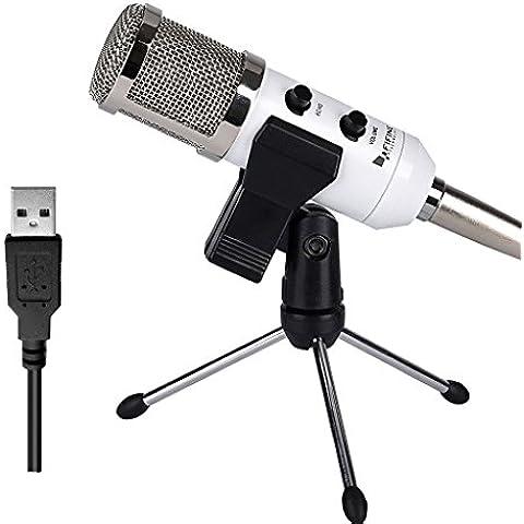 "Micrófono USB, Micrófono condensador Fifine™ Plug & Play 12"" Micrófono Core para PC/Computadora ( Windows, Mac, Linux OX), Podcasting,"