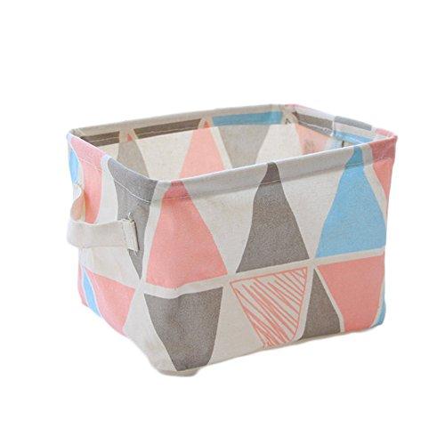 Die Organisation Korb (youkara Faltbare Stoff Aufbewahrung Korb Bin Aufbewahrung Würfel für die Organisation Kleidung Handtuch Kosmetik Toys Wäschebox Zubehör)