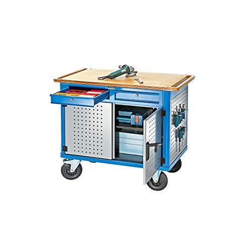 EUROKRAFT Montagewagen MAXIMUS - Tragfähigkeit 300 kg, LxBxH 1185 x 705 x 1000 mm - Montagewagen Transportgeräte
